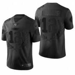 Packers 12 Aaron Rodgers NFL MVP noir édition limitée Maillot
