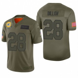 Green Bay Packers AJ Dillon Olive 2019 Salut à Service Limited Maillot