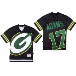Green Bay Packers 17 Davante Adams Big Face Maillot - Noir