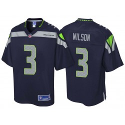 Seattle Seahawks Russell Wilson Team Pro Color Line Marine Maillot