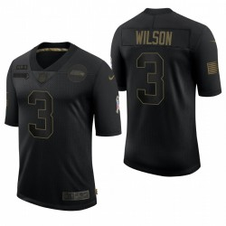 Seattle Seahawks Russell Wilson Hommes Noir Salute To Service Limited Maillot