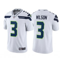Seattle Seahawks Russell Wilson vapeur Intouchable Limitée Blanc Maillot