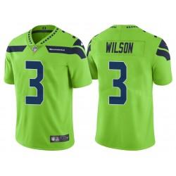 Russell Wilson Seattle Seahawks de vapeur Intouchable couleur Rush limitée Neon vert Maillot Homme
