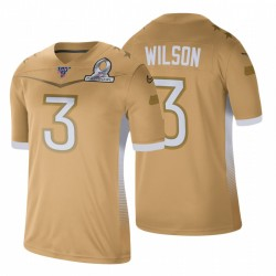 Russell Wilson Hommes Seattle Seahawks NFC Pro Bowl Jeu d'or Maillot