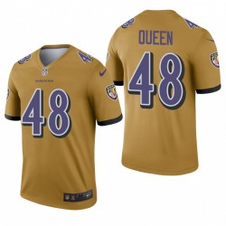 Baltimore Ravens 48 Patrick reine d'or Légende Inverted Maillot