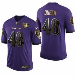 Baltimore Ravens Patrick Reine Violet 25e anniversaire vitesse de la machine d'or limitée Maillot