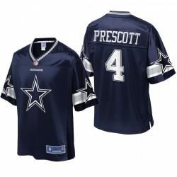Cowboys hommes Dallas Dak Prescott NFL Pro ligne Navy équipe Icône Maillot