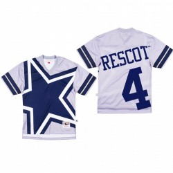Dallas Cowboys 4 Dak Prescott Big Face Maillot - Gris