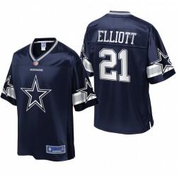 Cowboys hommes Dallas Ezekiel Elliott NFL Pro ligne Navy équipe Icône Maillot