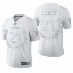 hommes Ezekiel Elliott Dallas Cowboys Blanc Vapor Limitée Maillot