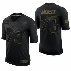Lions de Detroit pour hommes Jonah Jackson Noir Salut à Service Limited Maillot