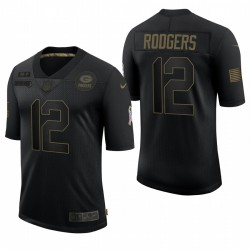 Homme Green Bay Packers Aaron Rodgers Noir Salut à Service Limited Maillot