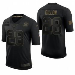 Homme Green Bay Packers A. J. Dillon Noir Salut à Service Limited Maillot