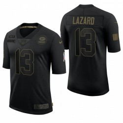 Homme Green Bay Packers Allen Lazard Noir Noir Salut à Service Limited Maillot