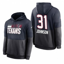 HOUSTON TEXANS DAVID JOHNSON NAVY CHARCOAL LOCKING HOPHOOVER PULLIVE SWOWER