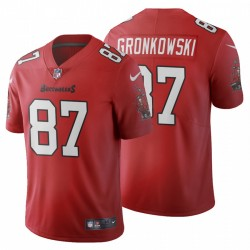 Men's Rob Gronkowski 87 Tampa Bay Buccaneers Vapeur Limited Maillot - Rouge