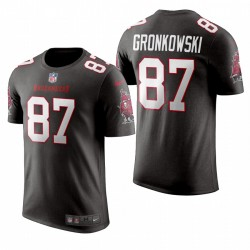 Buccaneers Rob Gronkowski 87 Numéros gris T-shirt Nom Nom