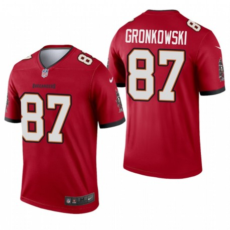 Tampa Bay Buccaneers 87 Rob Gronkowski Red Lagend Maillot