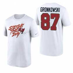 Tampa Bay Buccaneers Rob Gronkowski Blanc Legend Siege Le T-shirt Performance Day Performance
