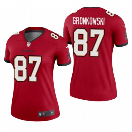 Femmes Rob GRONKOWSKI TAMPA BAYS BUCCANEERS RED LAGEND MAILLOT