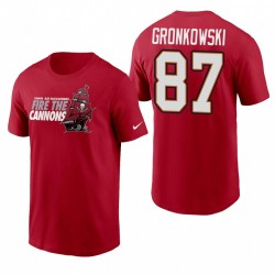Tampa Bay Buccaneers Rob Gronkowski Red Fire T-shirt Nom et Numes