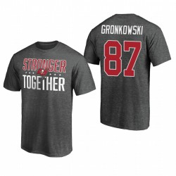 Buccaneers Rob Gronkowski 87 gris T-shirt plus fort ensemble