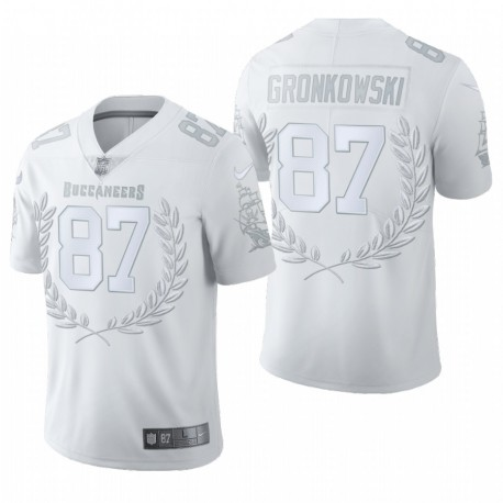 Hommes Rob Gronkowski Tampa Bay Buccaneers Blanc Vapeur Limited Maillot