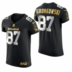 Tampa Bay Buccaneers Rob Gronkowski Black Golden Edition Elite Maillot