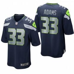 Seattle Seahawks Jamal Adams 33 Jeu marine Maillot