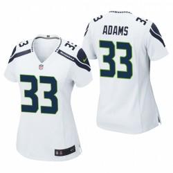 Femmes Seattle Seahawks Jamal Adams Jeu Blanc Maillot