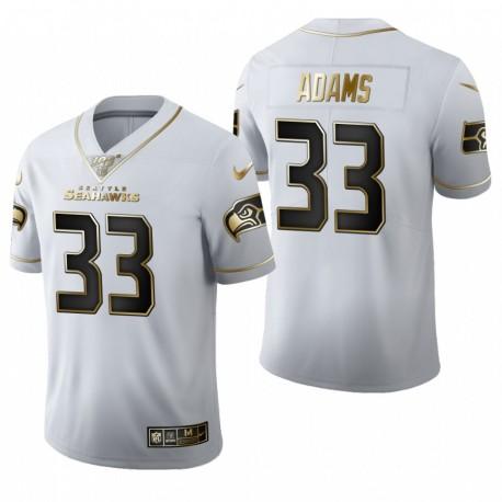 Seattle Seahawks Jamal Adams Golden Limited Maillot - Blanc