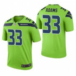 Seahawks Jamal Adams 33 Vert Couleur Rush Legend Maillot
