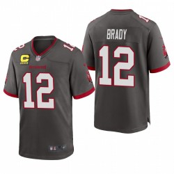 Tampa Bay Buccaneers Tom Brady Pewter Capitaine Patch Alternate Jeu Maillot