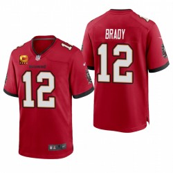 Tampa Bay Buccaneers Tom Brady Rouge Capitaine Jeu Patch Maillot