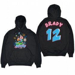 Tampa Bay Buccaneers Tom Brady Black Spongebob Patrick Graphic Pull Sweat à capuche