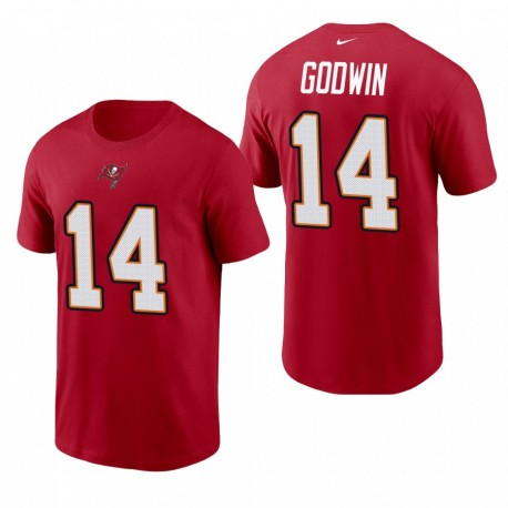 Tampa Bay Buccaneers 14 Chris Godwin Nom Nom T-shirt - Rouge