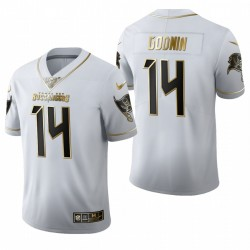 Chris Godwin 14 Buccaneers Blanc En Golden Edition Maillot