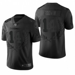 Hommes Chris Godwin Tampa Bay Buccaneers Black Vapeur Limited Platinum Maillot
