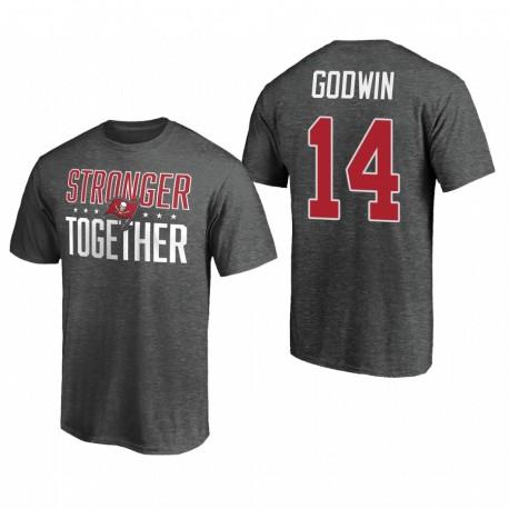 Buccaneers Chris Godwin 14 gris T-shirt plus fort ensemble