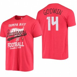 Tampa Bay Buccaneers 14 Chris Godwin Blitz T-shirt - Rouge
