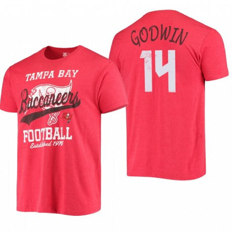 Tampa Bay Buccaneers 14 Chris Godwin Blitz T-shirt - Rouge