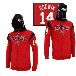 Tampa Bay Buccaneers 14 Chris Godwin Casque rouge masqué Sweat à capuche