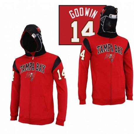 Tampa Bay Buccaneers 14 Chris Godwin Casque rouge masqué Sweat à capuche
