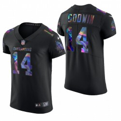 Tampa Bay Buccaneers Chris Godwin Black -21 Vapeur Elite Édition Golden Maillot