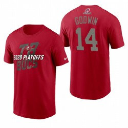 Tampa Bay Buccaneers 14 Chris Godwin NFL Playoffs T-shirt emblématique - rouge