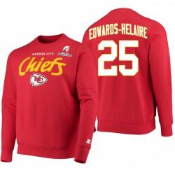 Clyde Edwards-Helaire Kansas City Chiefs Rouge 2021 Sweat-shirt de logo de Championnat Afc