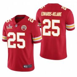 Kansas City Chiefs Clyde Edwards-Helaire Super Bowl LV Vapor Limited Maillot - Rouge