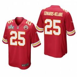 Kansas City Chiefs Clyde Edwards-Helaire Super Bowl LV jeu Maillot - rouge