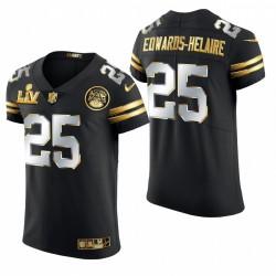 Kansas City Chiefs Clyde Edwards-Helaire Super Bowl LV Black Golden Edition Elite Maillot