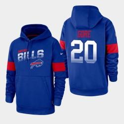 Buffalo Bills Hommes 20 Frank Gore 100e saison Sideline équipe Logo Sweat à capuche - royal